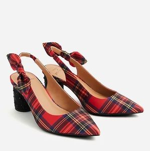Betsey Johnson Plaid Cylinder Heel Pump 👠